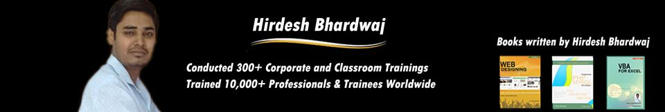 About Trainer Hirdesh Bhardwaj